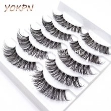 K03Transparent False Eyelashes Messy Cross Thick Natural Fake Eye Lashes Professional Makeup Tips Bigeye Long False Eye Lashes(China (Mainland))