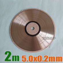 2 Meters / Lot 5.0x0.2mm solar bus bar wire for PV Ribbon Tabbing wire 2m tab wire TUV approved(China (Mainland))