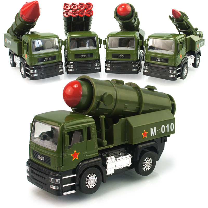 Rocket missile launch vehicle military vehicle model sound and light alloy children's gifts toy cars styling kids toys(China (Mainland))