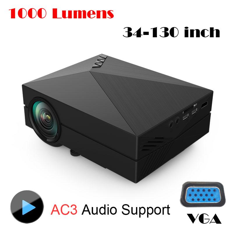 Original gm60 mini projector 1000 lumens 1920 x 1080p for Cheap mini portable projector