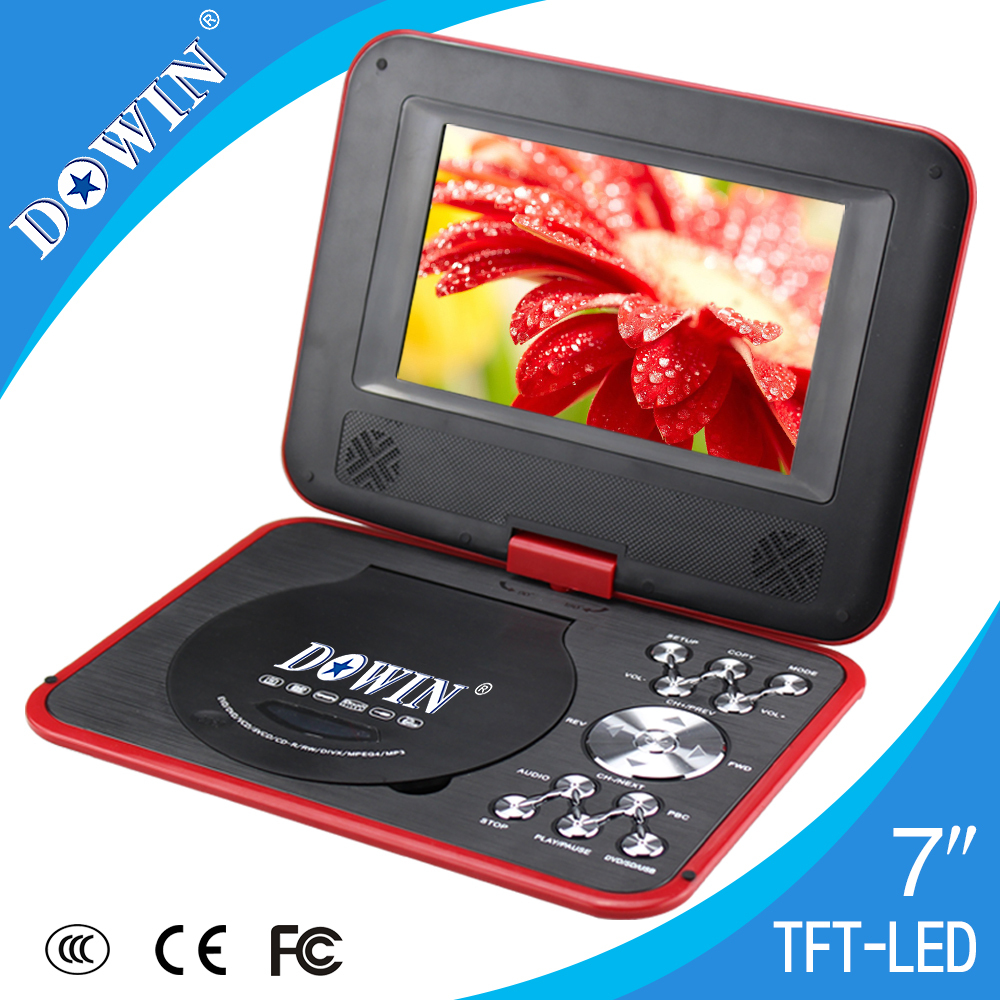 hot 7 screen dvd player mini portable dvd evd vcd. Black Bedroom Furniture Sets. Home Design Ideas
