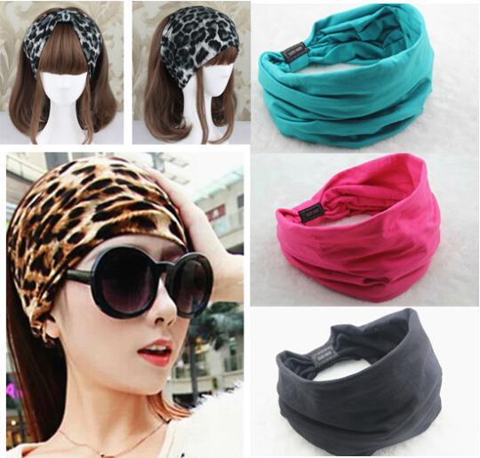 2015 Summer style variety wear method Elastic Sports Wide women Headbands for women hair accessories turban headband hair bands(China (Mainland))