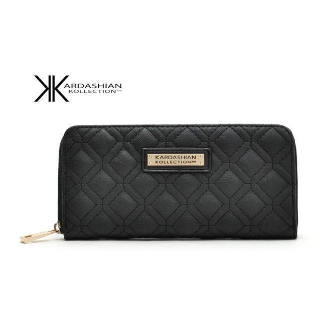 Hot Selling Kk Wallet Long Design Women Wallets PU Leather Kardashian Kollection High Grade Clutch Bag