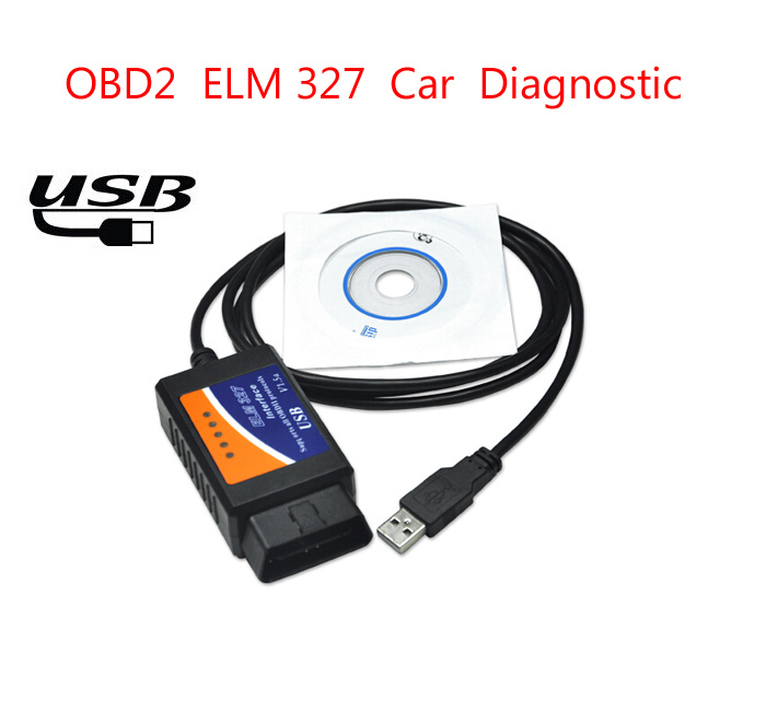 2015 Newest OBD2 Scanner ELM327 usb interface V2.1 Car diagnostic scan tool ELM 327 USB supports all OBD-II protocols(China (Mainland))
