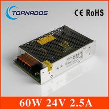 60 Вт 24 В 2.5A один выход бесперебойного регулируемая переключение блок питания для из светодиодов полосы света универсальный AC DC конвертер