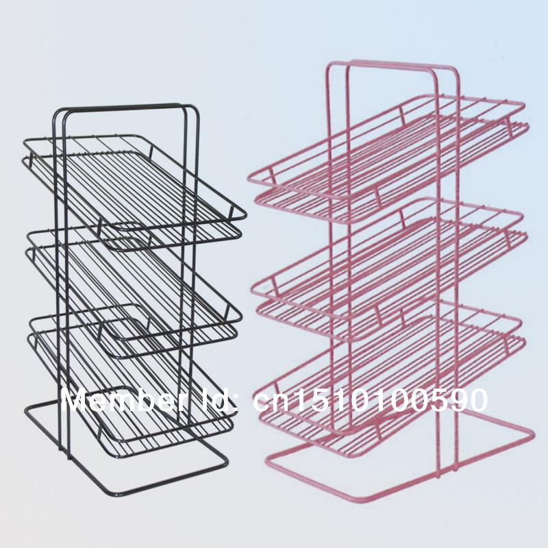 Tabletop metal powder coated nail polish display stand shelf rack art,3 layers - Guangzhou Elite Display store