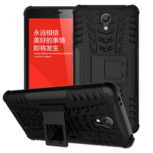 Case For Xiaomi Redmi Note 2 Heavy Duty Armor Shockproof Hybrid Hard Soft Rugged Silicone Rubber Phone Cover with Stand Function