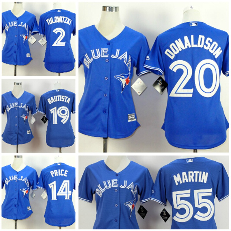 Toronto Blue Jays Womens Jersey 2 Troy Tulowitzki,17 Ryan Goins,19 Jose Bautista,20 Josh Donaldson,10 Edwin Encarnacion Jerseys(China (Mainland))