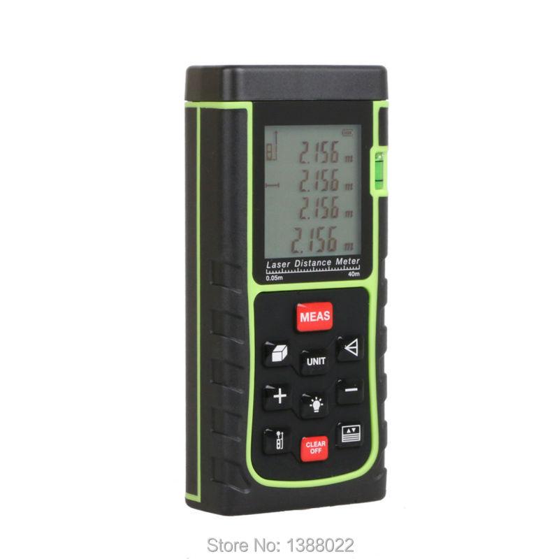 Distance Meter RZ40 -3 40m E40 131ft Digital Laser Rangefinder Bubble Level Tape Measure Area/volume(China (Mainland))