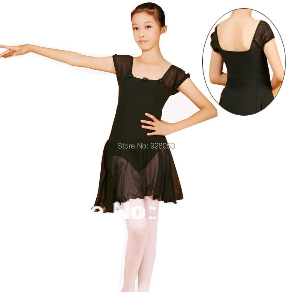 Ballet Skirt Girl Ballerina Dress Short Sleeve Ballet Leotard With Chiffon Skirt Girls Ballet Clothes