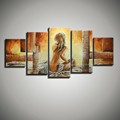 5 panelen canvas modern wall art large abstract figure hand painted Hot sexy nude art naked