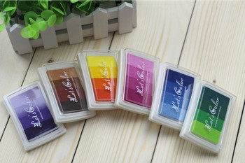 New Mix color/Let's Color series DIY ink pad/ink pad set/Free shipping/wholesale