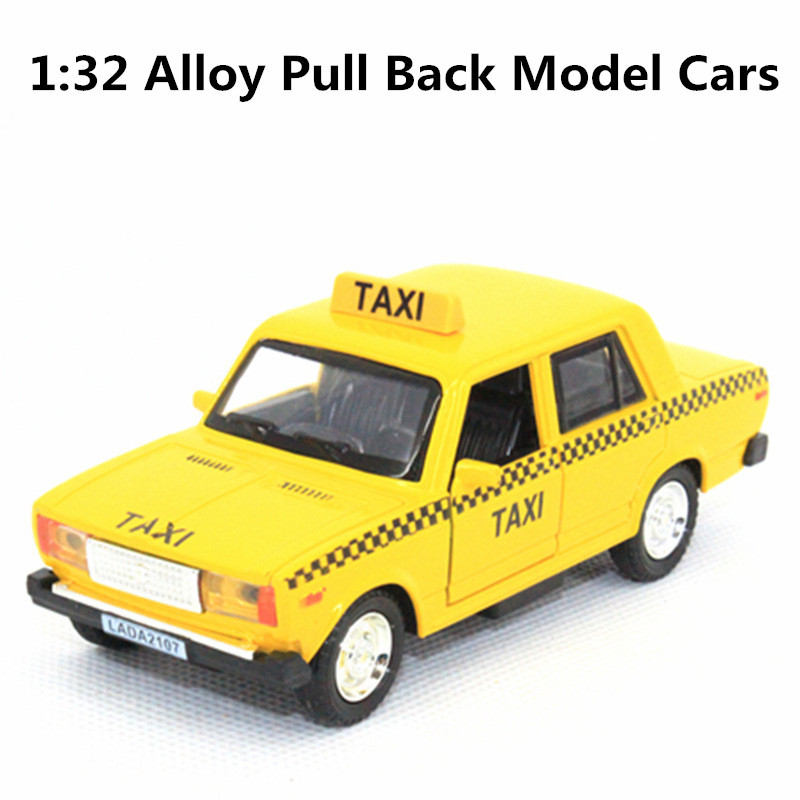 Soviet Lada taxis Special 1:32 scale alloy car, pull back toys, model cars, children's gifts,free shipping(China (Mainland))