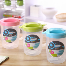 New cold water pot pink blue green solid color PP material juice bottle family use healthy big tea pot with lids drinkware(China (Mainland))
