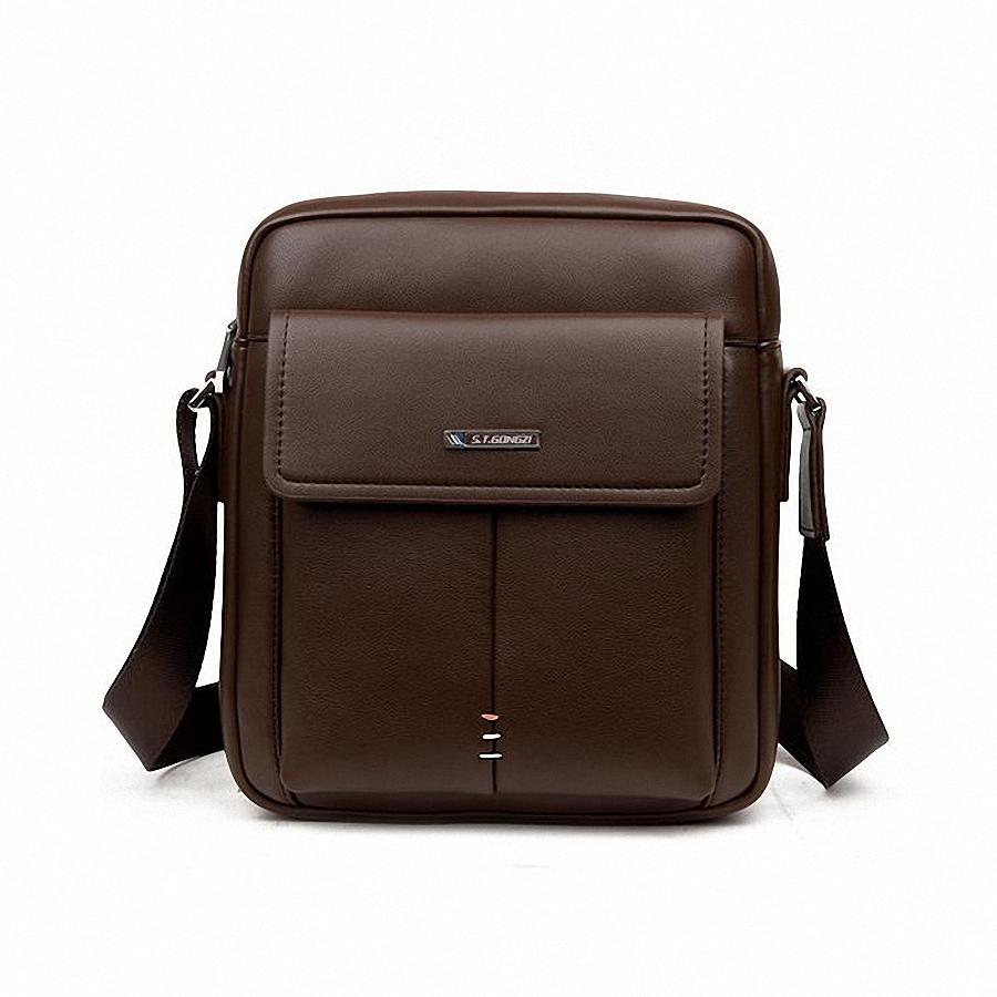 Brand Bag Men leather Messenger Bags Men's Crossbody Small 4 Types Satchel Man Satchels bolsos Men's Travel Shoulder Bag LI-1315(China (Mainland))