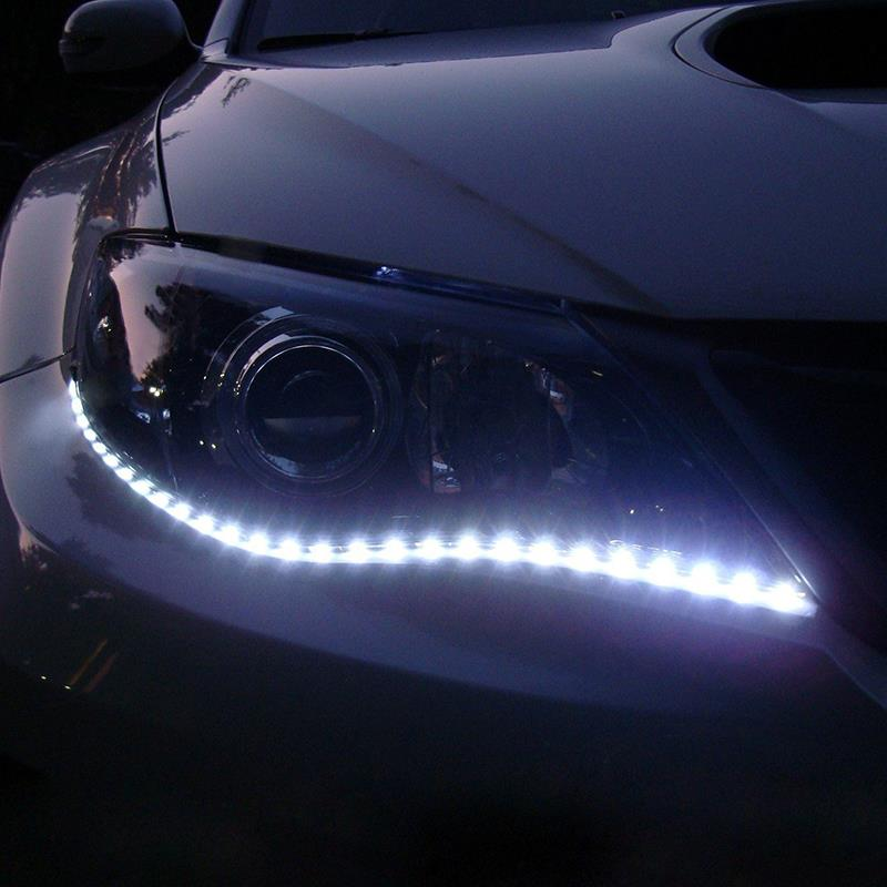 1pair White Waterproof Lights High Power Car Auto Decor Flexible LED Strips EC062(China (Mainland))
