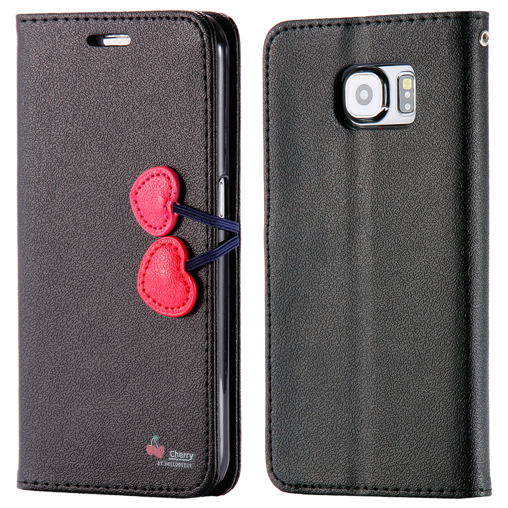 Fashion Flip Stand Case For Samsung S6 G920 Elegant Lovely Phone Cover Wallet With Card Holder Magnetic Heart Girl For Galaxy S6(China (Mainland))