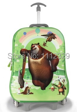 3D EVA Kids trolley bags cartoon design luggage school BAG 14 - Merry Weather Store store