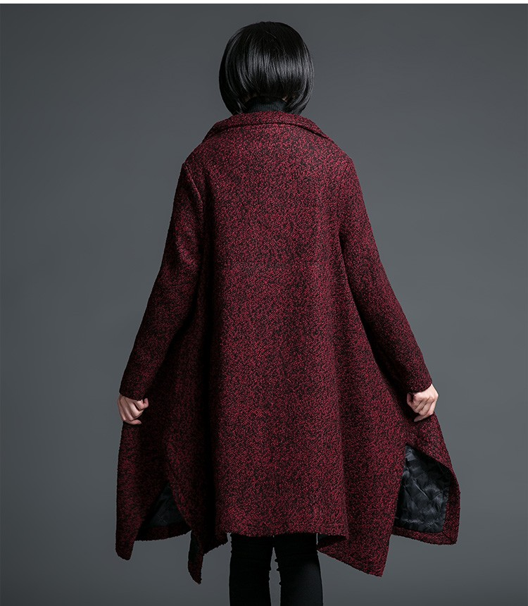 2016 Winter New Women Medium-length Wool Woolen coat Thick Warm Casual Jacket  Large-size Fashion Slim Cotton jacket  L-XXL AB65