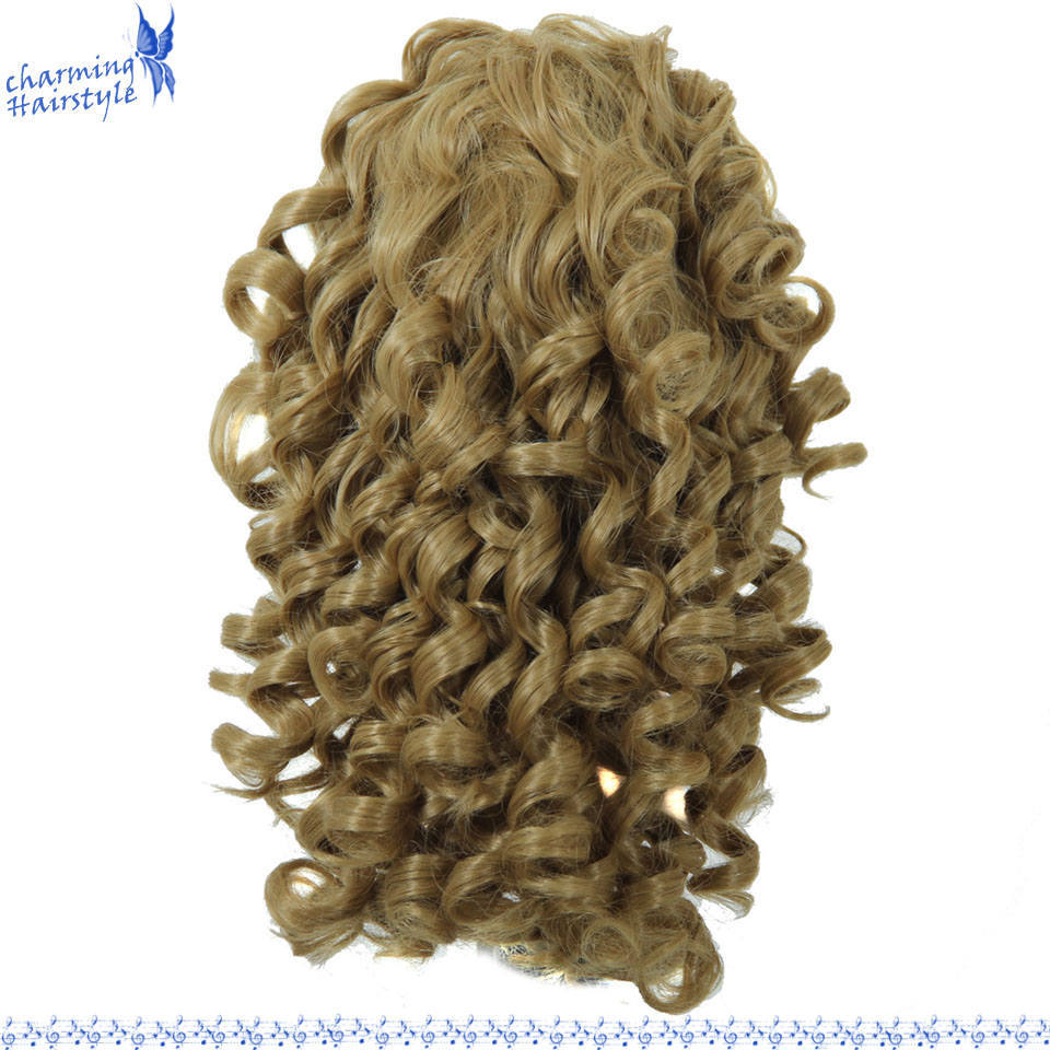 Long Spiral Curly Ponytail Clip in Hair Extensions Tress Hair 100% High Temperature Fiber Claw Clip in Hair Ponytail Wig 200g<br><br>Aliexpress