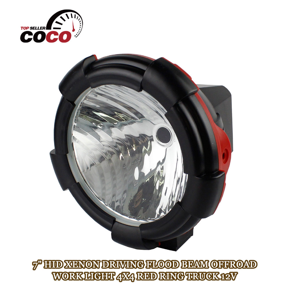 7 INCH 12V DC 35W HID XENON WORK LIGHT External Light DRIVING Lamp road light Flood OFFROAD 4x4 SUV 4WD Truck ATV<br>
