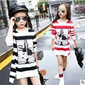2016 spring and autumn Nova girl long sleeved shirt T shirt the little girl s clothes