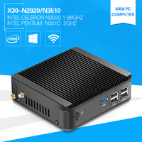 XCY Fanless Computer Celeron N2920 Pentium N3510 1.83GHz Quad-Core Linux Windows Mini PC with HDMI Broadwell USB 3.0 DDR3