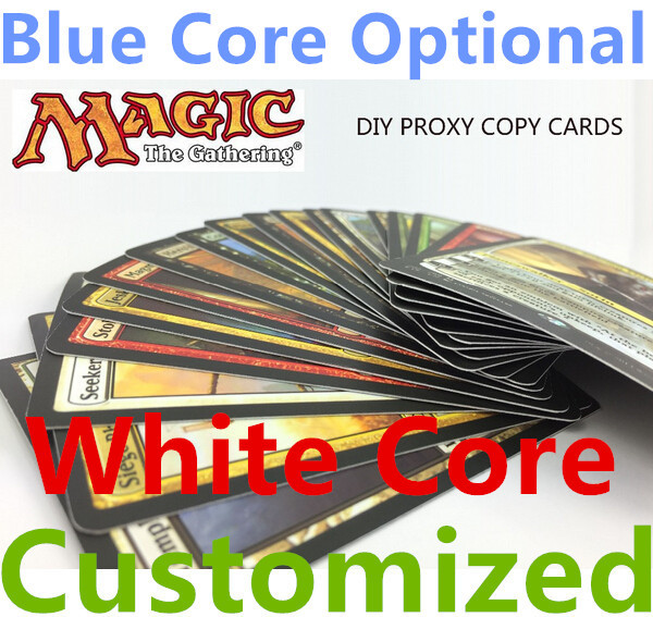 Awesome proxy mtg cards,lion recommended,magic the gathering,customized,m15 dual lands counterfeit white core blue core optional(China (Mainland))