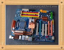 Free shipping Used Gigabyte Gigabyte EP45-Extreme, copper radiator, top 775 Motherboard(China (Mainland))