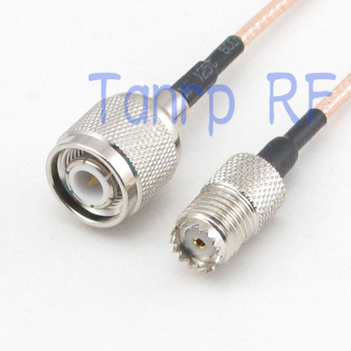 10PCS 15CM Pigtail coaxial jumper cable RG316 extension cord 6inch MINI UHF female jack to TNC male plug   RF adapter connector<br><br>Aliexpress