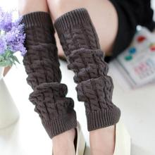 Essential 42*10cm Fashion Women Winter Warm Leg Warmers Knitted Crochet Long Socks Winter Warmmer Leg Socks Free Shipping Oct20(China (Mainland))