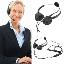 New Fashion 4Pin Call Center Corded Operator Telephone Headset with Mic With Crystal Head Wholesale hot  new(China (Mainland))