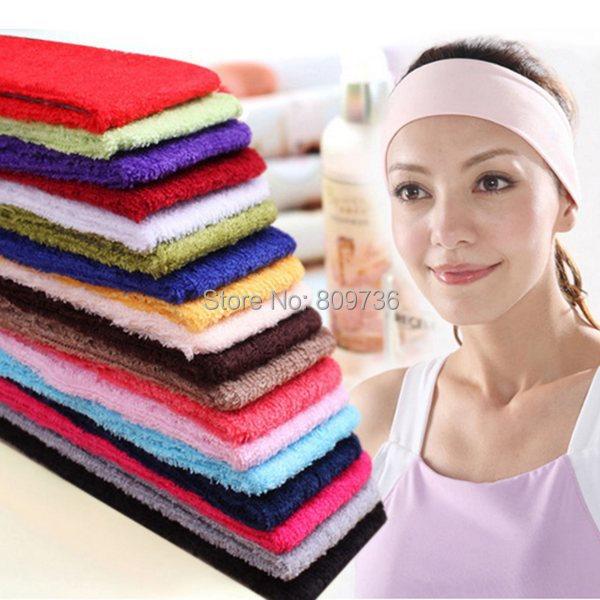 6X Wholesale New Plain Headband Elastic Stretch Sports Yoga Hair Band Unisex Wide Wrap 6cm Hair Accessories Free SHip(China (Mainland))
