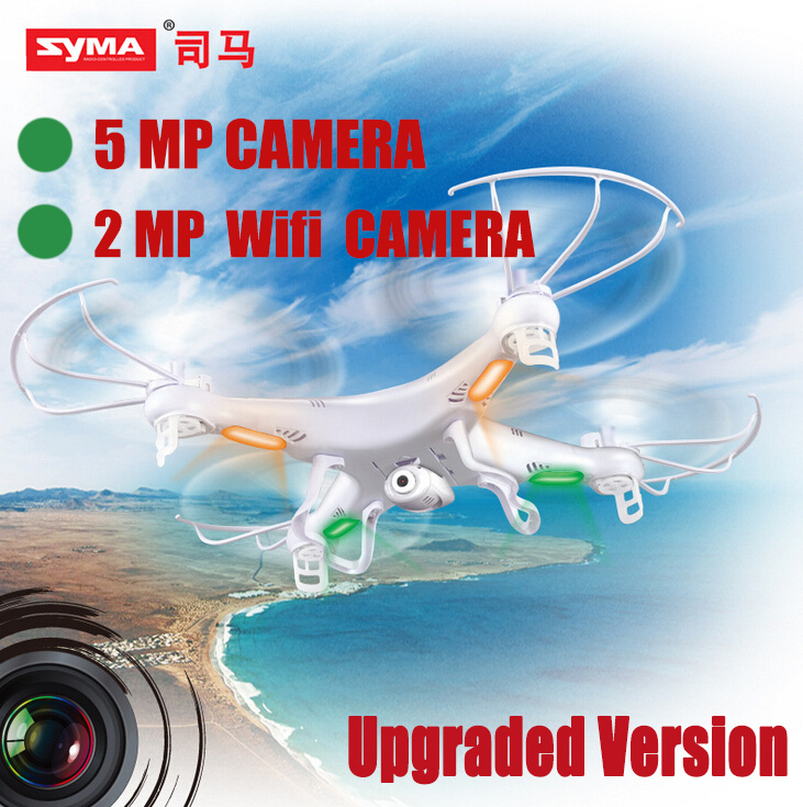 Professional aerial RC Helicopter SYMA X5C new Version 4CH 2.4G quadcopter drone with 5.0 MP camera or X5W wifi camera(China (Mainland))