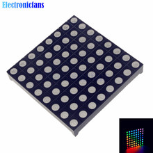 Full Color 8x8 8*8 Mini Dot Matrix LED Display Red Green Bule RGB Common Anode Digital Tube 60mmx60mm for Diy Free Shipping(China (Mainland))