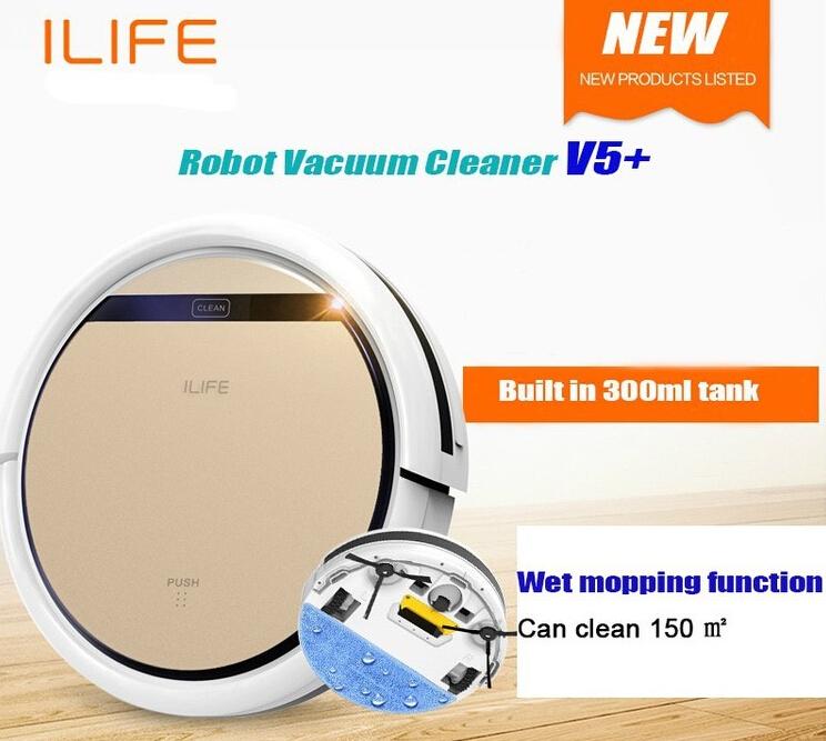 DHL Free Ship Smart Robot Vacuum Cleaner V5 PRO ROBOT ASPIRATOR Wet,Dry Clean MOP Water Tank HEPA Filter,Ciff Sensor,Self Charge(China (Mainland))