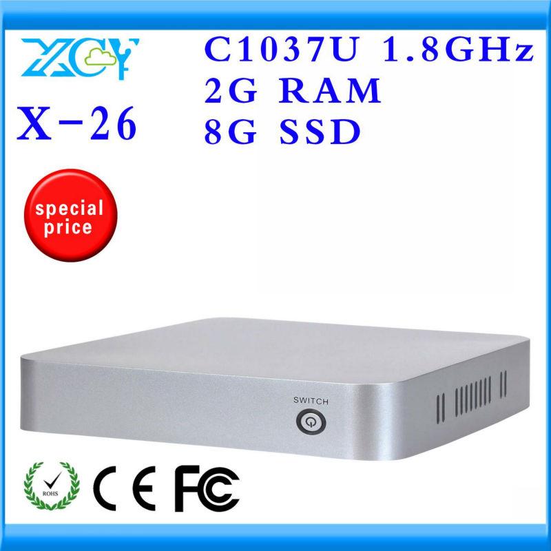 INTEL C1037U Motherboard 8G ssd 2G Ram Desktop PC Network Computer Mini PC Support WIN7, Linux, Windows XP, Ubuntu,Debian etc.(China (Mainland))