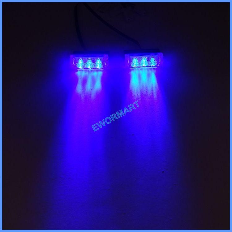 2*3 blue LED multi colors strobe light led green flash light Fire Flashing Blinking Strobe Emergency Car Lights Kit 2x3(China (Mainland))