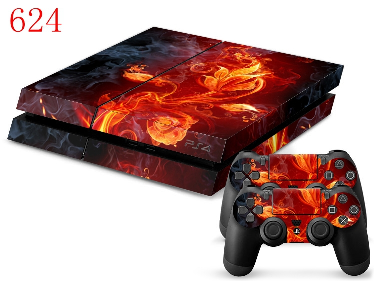 Fire works For PS4 PVC Decal For Playstation 4 Console With Controller *Buy One Get Two Lightbar(China (Mainland))