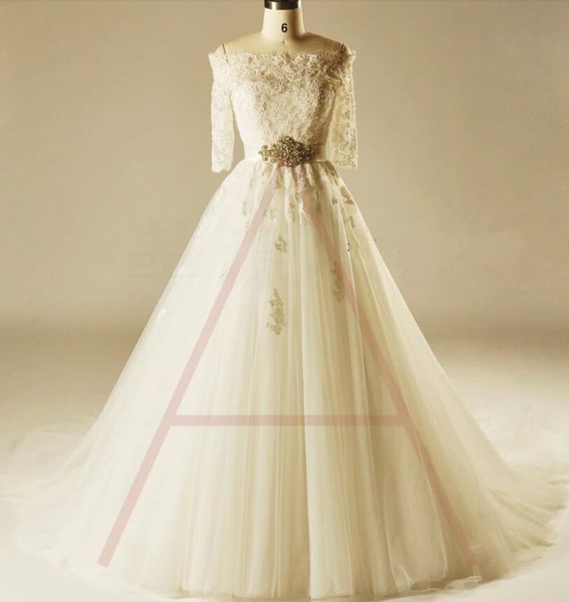 Online buy wholesale half cut pearls from china half cut for Wedding dresses princess cut