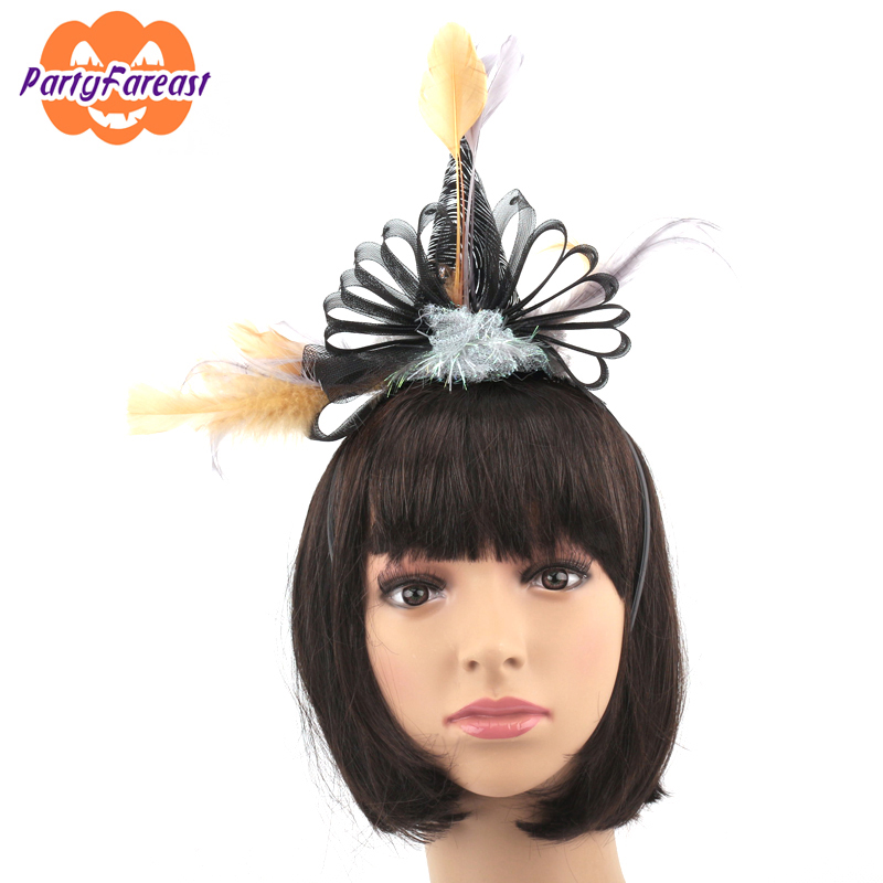 Birthday Party Headbands for Children Adult Cone Cap Feather Headwear Party Decoration Gifts Kids High Quality Hearwears h006(China (Mainland))