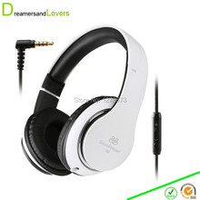 Headphone with Microphone for Hiking, Travel, Work, Running Sport , Kids Girls Headphones Headset for Music or Gaming White