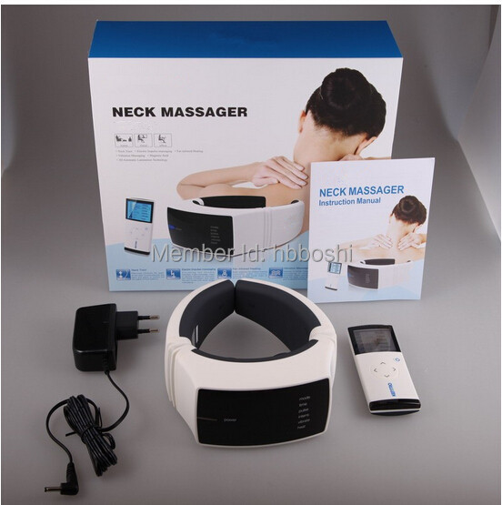 health machine infrared heating electric impulse vibration and magnetic neck pain treatment(China (Mainland))