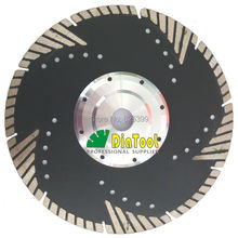 2pcs 230mm Diamond Blades for stone & concrete cutting, with FLANGE , diamond disc slant protection teeth