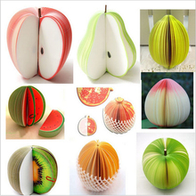 free shipping Fruit Note Memo Pads Portable Scratch Paper Notepads Post Sticky(China (Mainland))