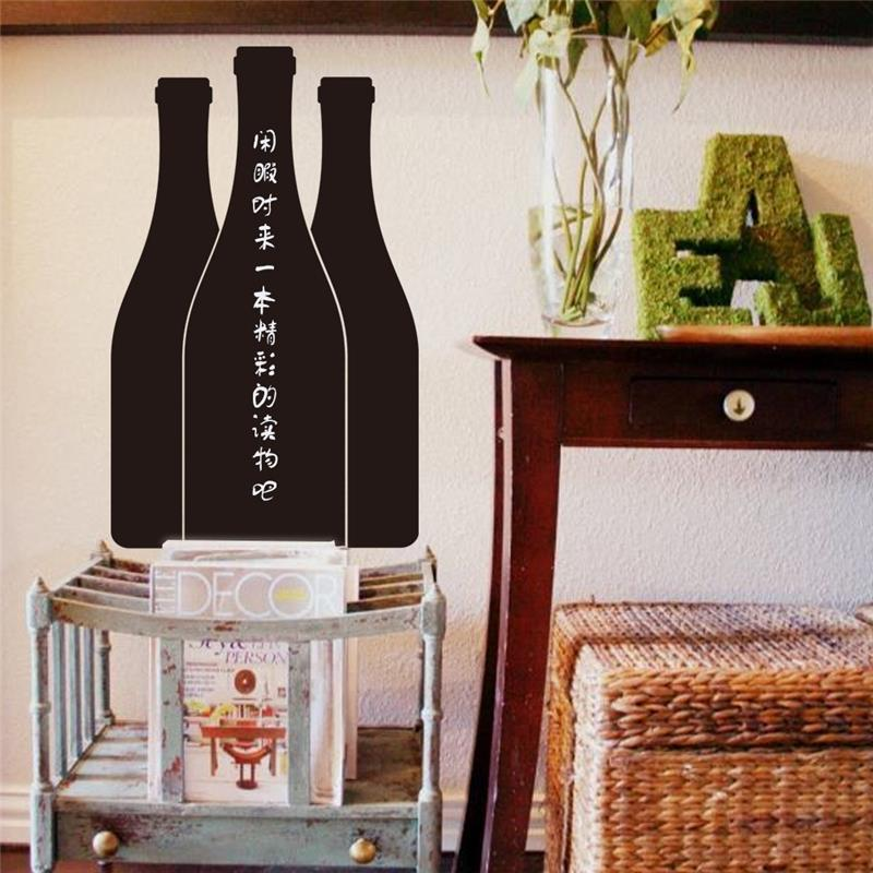 Creatieve flessen krijtbord stickers keuken kamer decoratie 21 9 zwart vinyl adesivos de paredes - Decoratie kamer thuis woonkamer ...