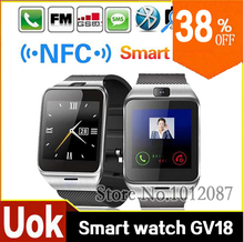2015 Waterproof Aplus GV18 Smart watch phone GSM NFC Camera wrist Watch SIM card Smartwatch for Samsung Android Phone