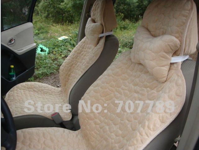 2012 new style quilted cotton car seat covers supports 8pcs stone yellow  free shipping