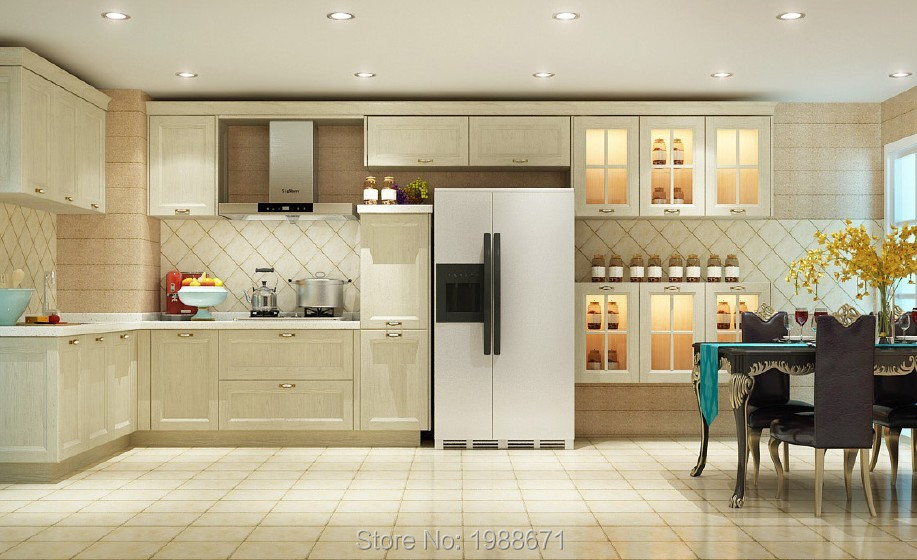 Ready to Assemble White Shaker Wood Kitchen Cabinet <br><br>Aliexpress