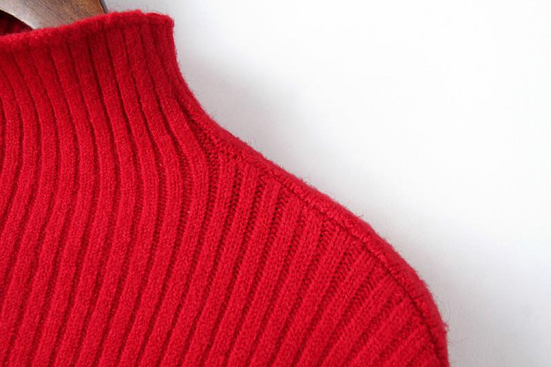 2015 зима новый женская Фонарь с длинным рукавом водолазка красный белый фиолетовый серый свитер